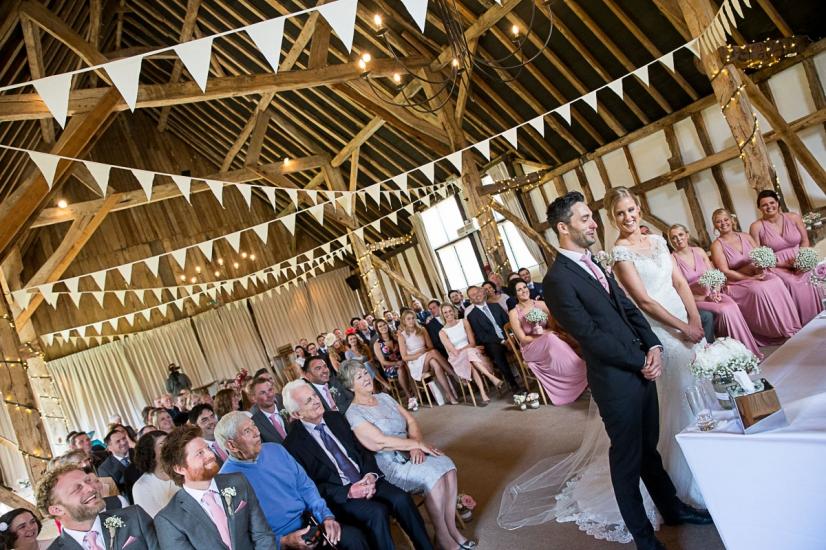 Hampshire wedding photographer clock barn