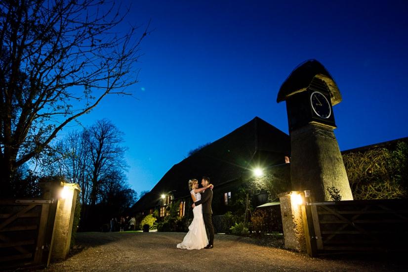evening-photograph-clock-Barn-night-time