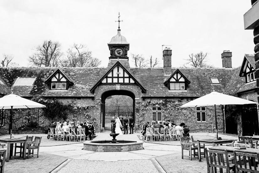 Lulworth Courtyard wedding photographer