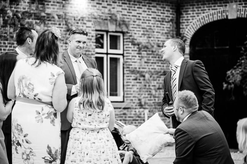 Lulworth Courtyard documentary wedding photographs